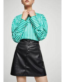 Decorative Zip Skirt