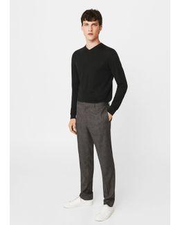 Openwork Wool-blend Sweater