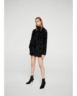 Fur Leather Coat