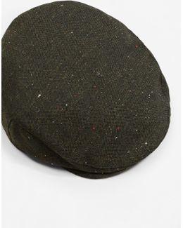 Flecked Flat Cap