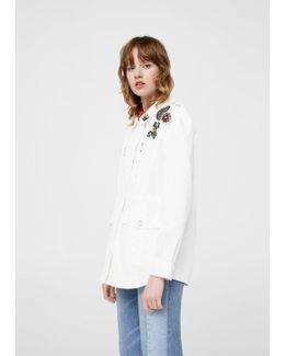 Decorative Patches Cotton Jacket