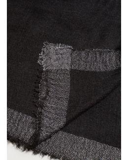 Metallic Effect Knit Scarf
