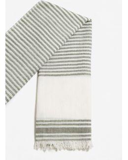 Striped Cotton Scarf