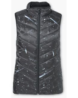 Printed Quilted Gilet