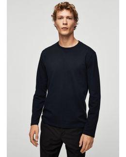 Textured Cotton Sweater