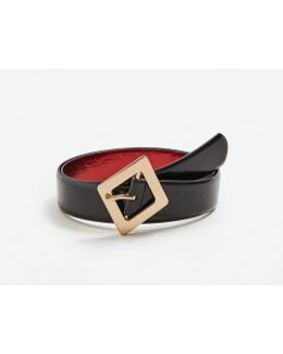 Glossed-effect Belt