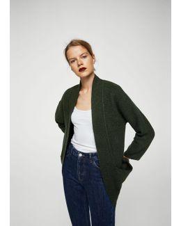 Oversize Wool-blend Cardigan