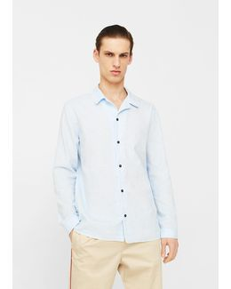 Regular-fit Cotton Linen-blend Shirt