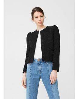 Textured Cotton-blend Jacket
