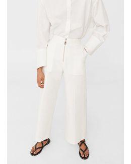 Pocket Cotton Trousers