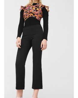 Flare Crop Trousers