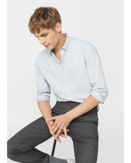 Slim-fit End-on-end Shirt