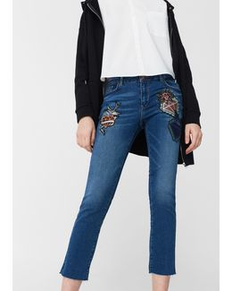 School Straight Cropped Jeans