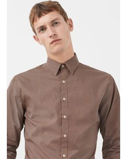 Slim-fit Tie Print Shirt