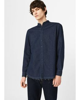 Dark Wash Regular-fit Denim Shirt