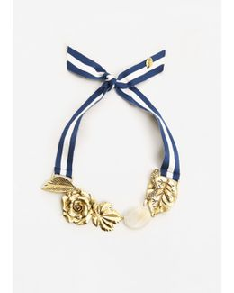 Bow Flowers Necklace