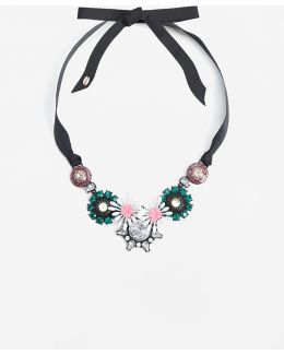 Bow Crystals Necklace