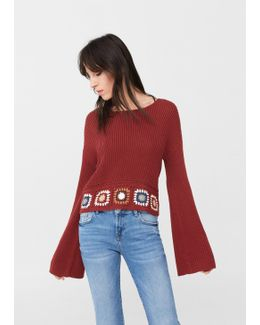 Crochet Panel Sweater