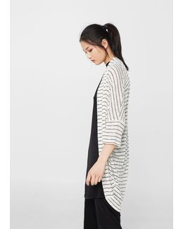 Striped Design Cardigan