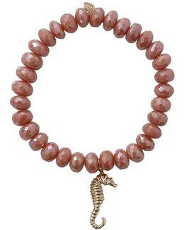 Seahorse Silverite Beaded Bracelet