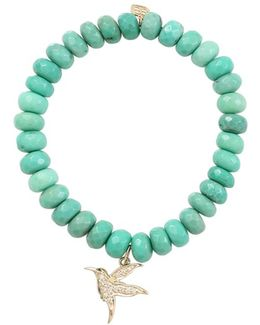 Diamond Hummingbird Beaded Bracelet