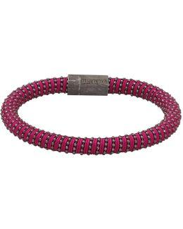 Magenta Twister Band Bracelet