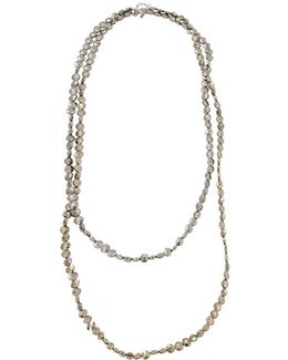 Flat Bead Single Strand Necklace