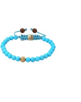 Sleeping Beauty Turquoise Beaded Bracelet