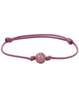 Pave Pink Sapphire Orb Bracelet