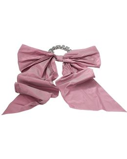 Taffeta Bow On Pave Choker