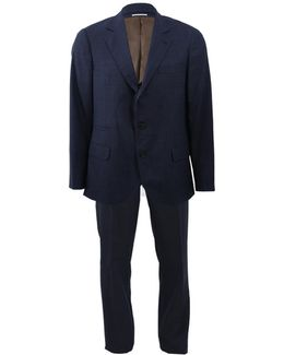 Wool Solid Notch Suit