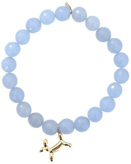 Balloon Dog Blue Jade Beaded Bracelet