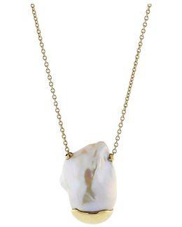 Sea Of Beauty Black Diamond & 14k Gold Pendant Necklace