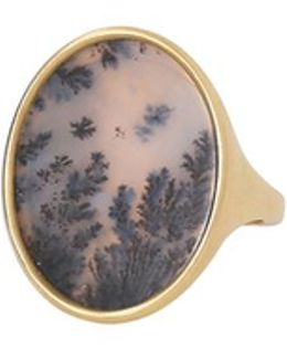 Dendritic Agate Oval Ring