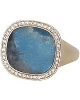 Gilalite And White Diamond Ring