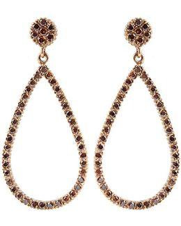 Lilah Brown-diamond Drop Earrings