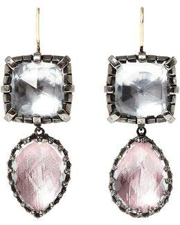 Sadie Cushion And Pear Drop Earrings