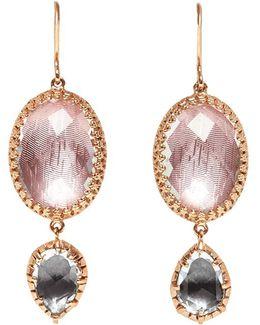 Sadie Oval And Pear Drop Earrings