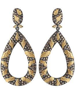 Libra Cognac-diamond Drop Earrings
