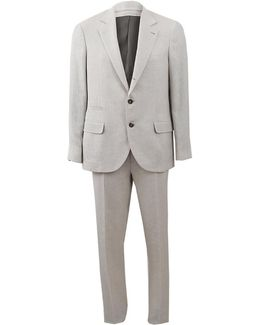 Hopsack Notch Lapel Suit