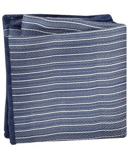 Striped Silk Pocket Square