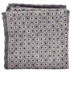 Silk Circle Dot Pocket Square