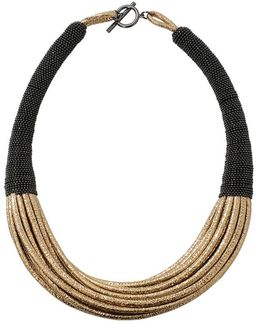 Leather Multi Strand Choker