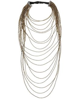 Long Monili Waterfall Necklace