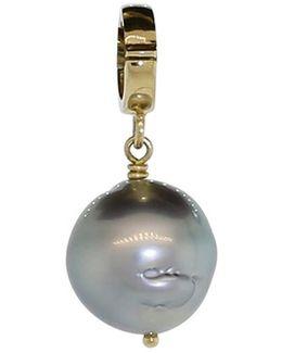 Black Tahitian Pearl Clip Pendant