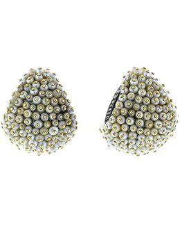 Natural Basra Pearl Huggie Earrings