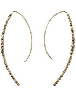 Open Marquis Diamond Hoop Earrings