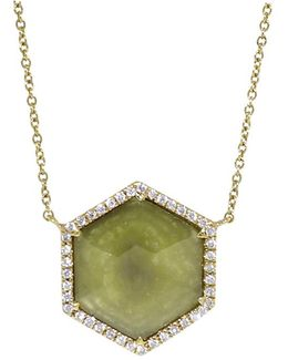 Yellow Hexagonal Diamond Necklace