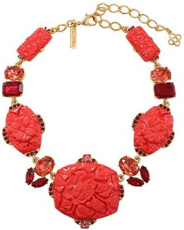 Carved Floral Necklace