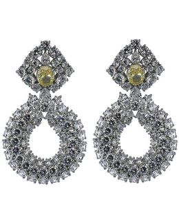 Three Row Drop Earrings